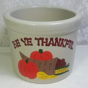 Roseville Ohio Pottery Crock Thanksgiving